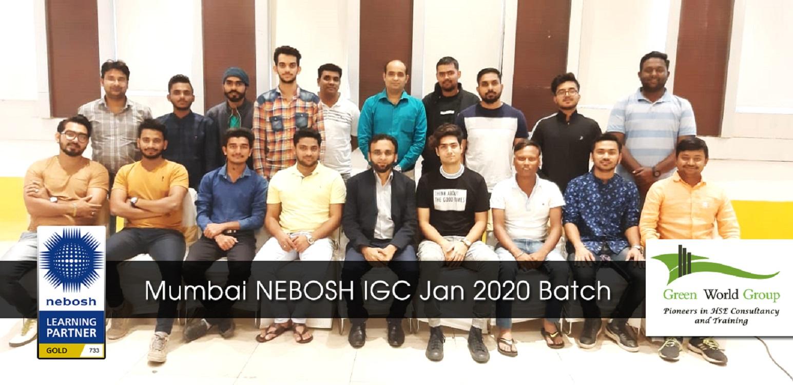 Mumbai NEBOSH IGC Jan 2020 Batch