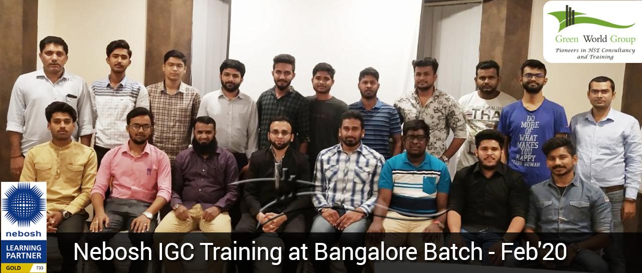 Nebosh IGC Training at Bangalore Batch - Feb'20
