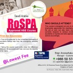 RoSPA Approved HSE Course