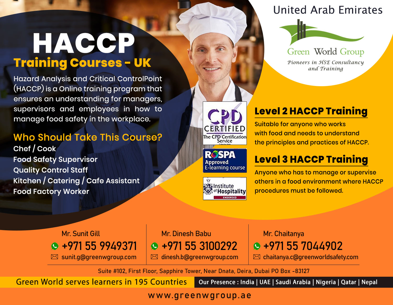 HACCP Training Courses - UK